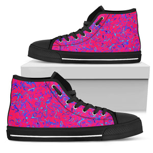 Womens High Top Shoes Pink Craze