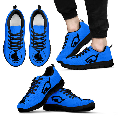 Mens Sneakers Nautical Blue and Black