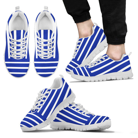 Mens Sneakers Blue And White Stripes