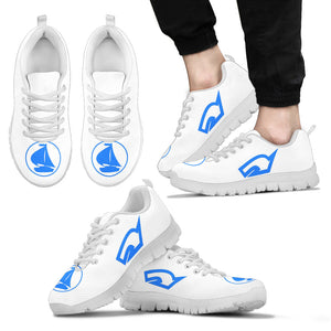 Mens Sneakers Nautical White and Blue