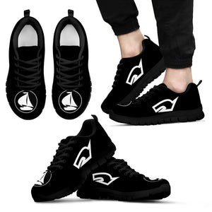Mens Sneakers Nautical Black and White