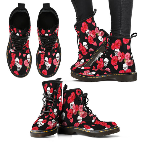 Shoes - Women's Boots In Skulls and Roses Collection