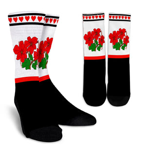 White Red and Black Christmas Socks