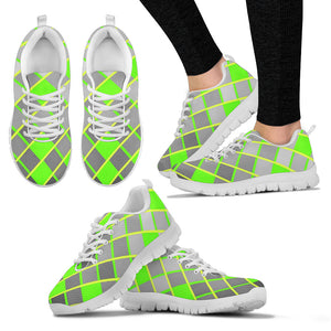 Womens Sneakers Lime Green And Gray