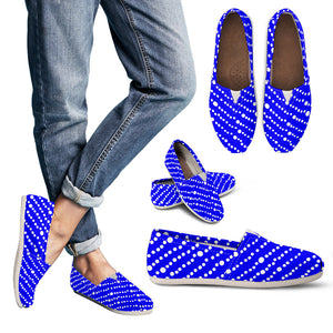 Womens Blue Floating Bubbles Casual Shoes