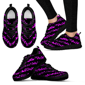 Womens Sneakers Black and Purple
