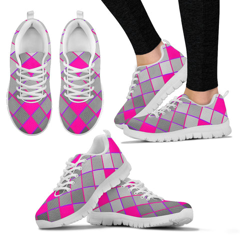 Womens Sneakers Hot Pink And Gray