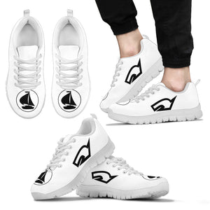 Mens Sneakers Nautical White and Black