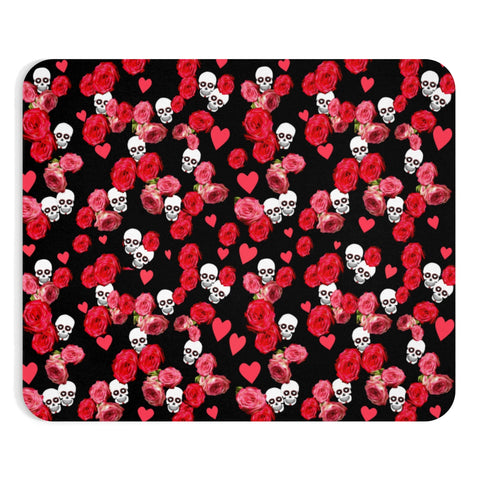 Mousepad Black Skulls and Roses