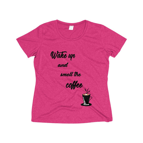 Women's Plus Size Tee WAKE UP AND SMELL THE COFFEE