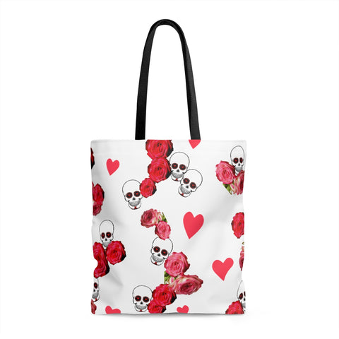 Skulls and Roses Tote Bag