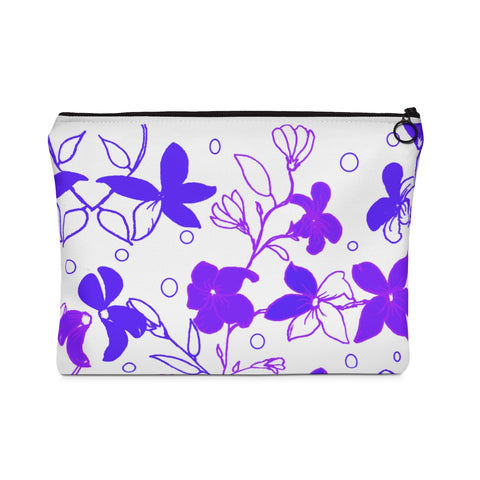 Carry All Pouch Purple Flowers