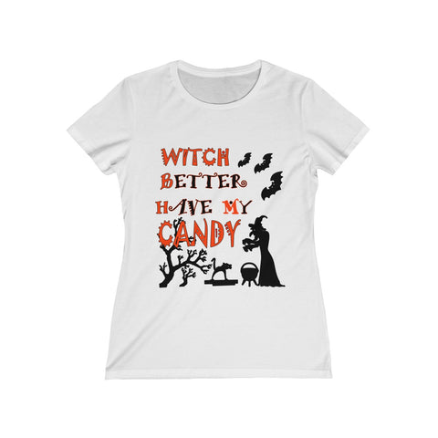 Halloween Slim Fit T-shirt With Witch