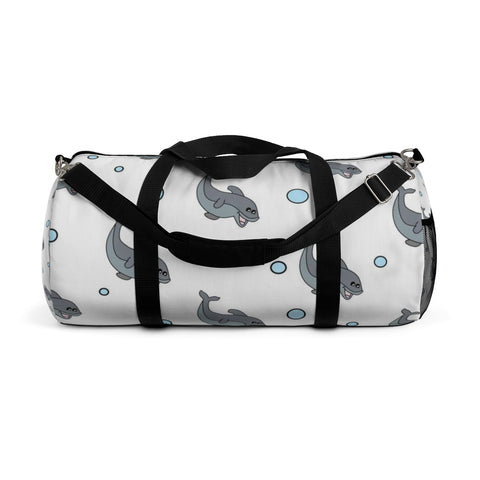 Duffle Bag White Dolphin Design