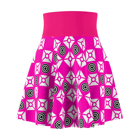Hot Pink Women's Skater Skirt