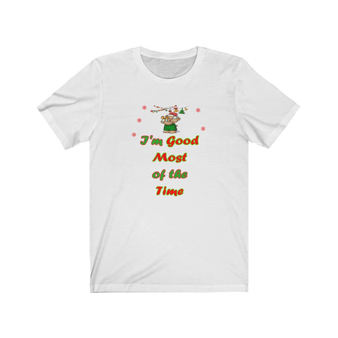 Funny White Christmas Short Sleeve Jersey Tee