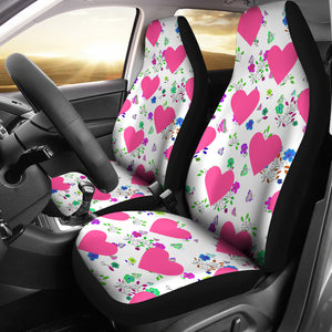 Butterflies And Hearts Design Car Seat Covers
