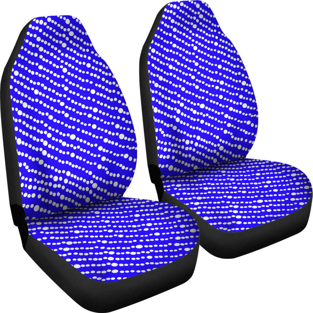 Car Seat Covers In Cobalt Blue Floating Bubbles