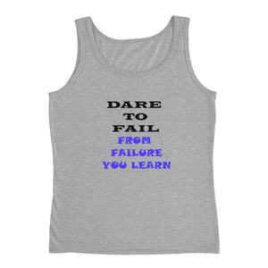 Ladies' Cotton Tank Top 'Dare To Fail'
