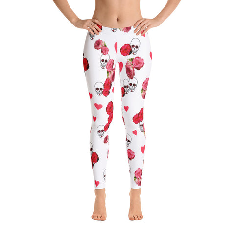 Leggings Skulls And Roses
