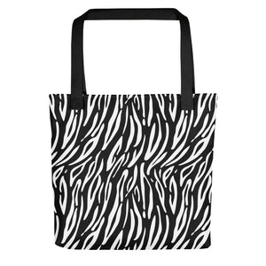 Tote With Zebra Pattern
