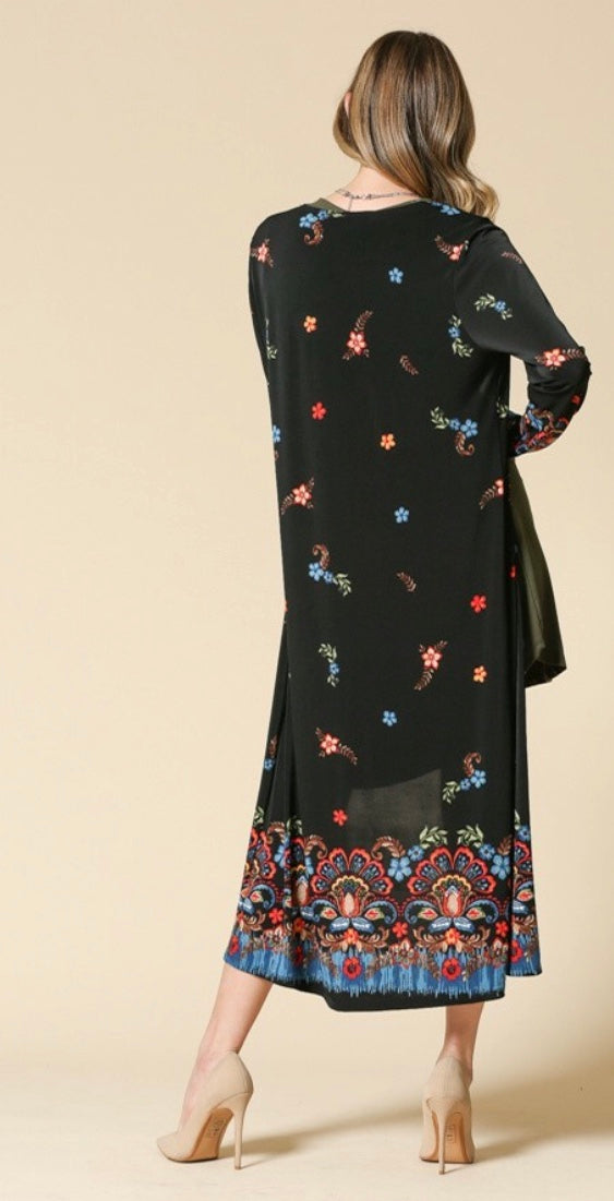 Manal's Floral Stretchy Cardigan