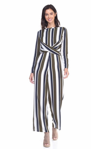 Amarah's Striped Jumpsuit
