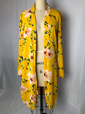 Yellow Tropical Cardigan