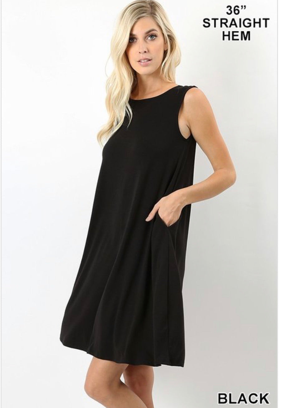 Sleeveless top with Pockets (shorter)