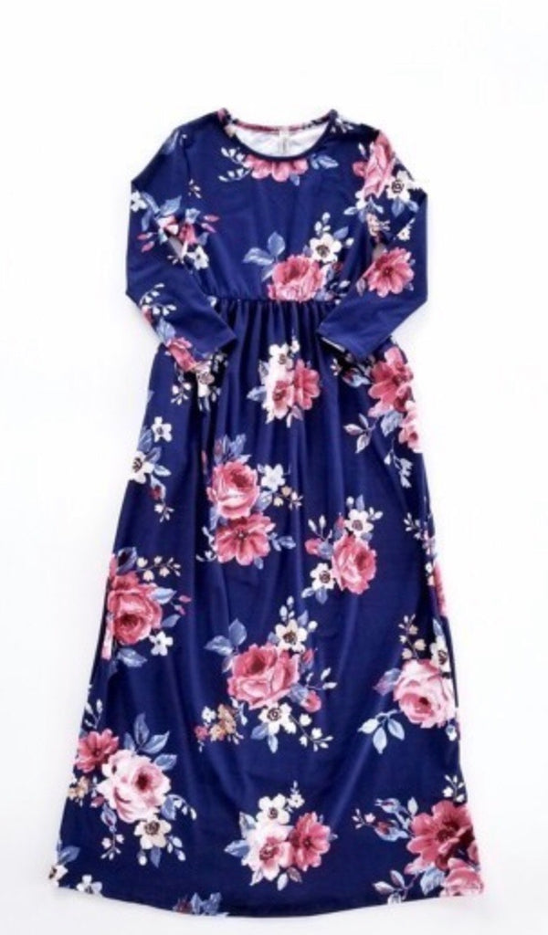Jennahs Floral Maxi Dress