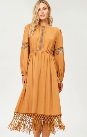 Fringe bottom Dress Shirt