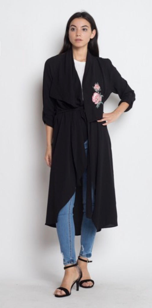 Floral Embroidery Duster