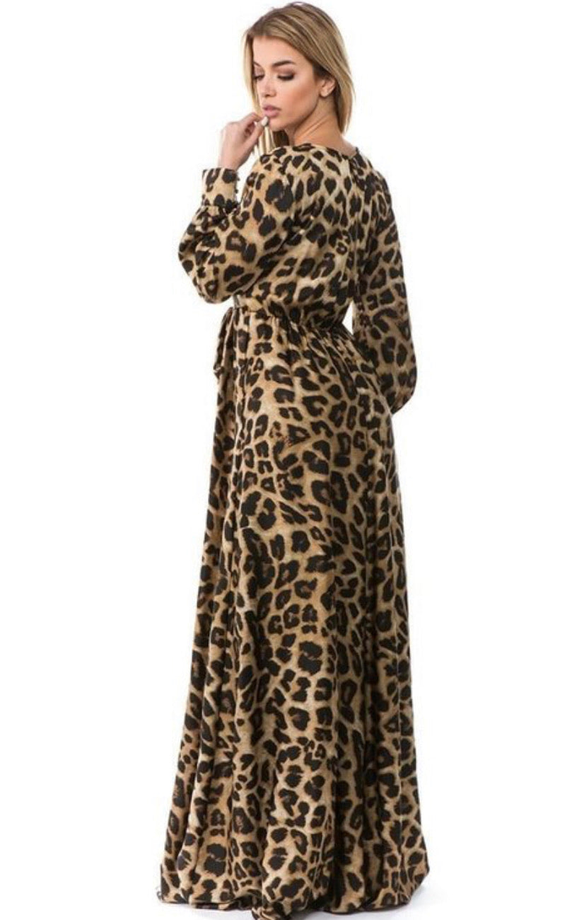 Leopard Print Flow Maxi Dress