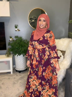 I Chiffon Floral Dress