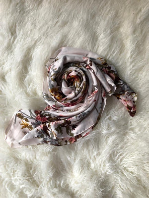 Floral Print extra large scarf