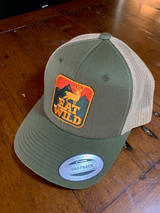 EatWild Olive and Sand Mesh Trucker Brim