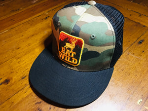 EatWild Camo Black Mesh Hunter Cap
