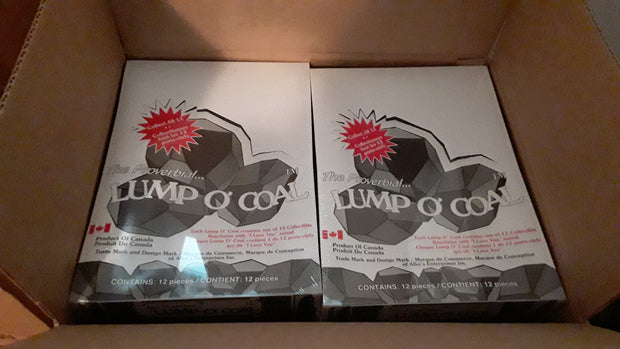 Lump O' Coal Case of 72- Prepack of Counter Pop-up Displays