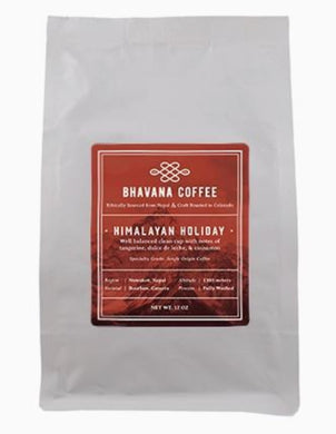 Nepal Himalayan Holiday Roast, 12oz single origin whole bean coffee