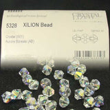 1 Org Pack of 1440pcs Swarovski Crystal Beads 5328 3mm Xillion Beads - Crystal Clear AB