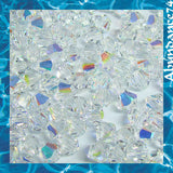1 Org Pack of 1440pcs Swarovski Crystal Beads 5328 2.5mm Xillion Beads - Crystal Clear AB