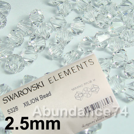 1 Org Pack of 1440pcs Swarovski Crystal Beads 5328 2.5mm Xillion Beads - Crystal Clear - FREE SHIPPING