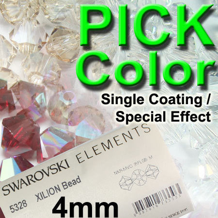 1 Org Pack of 1440pcs Swarovski Crystal Beads 5328 4mm Xillion Beads - AB / 1X Coating / Special effect - You Pick Color
