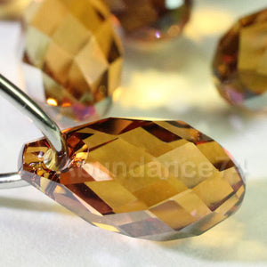 1 piece Swarovski Crystal Pendants 21mm Large Briolette Pendant Teardrop 6010 COPPER