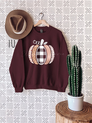 Blush+Rose Gold Pumpkin | tee + sweatshirt