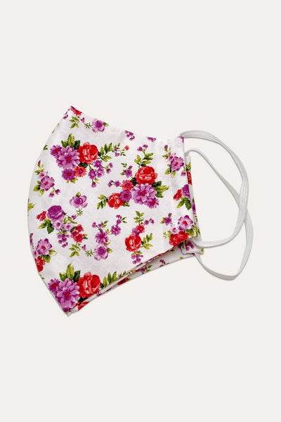 Floral Masks (White) - Child