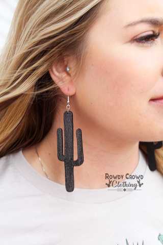 Midnight Cactus Earrings