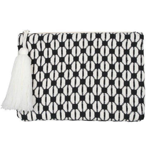 Pocketbook/Clutch Purse - Cream/Black Check