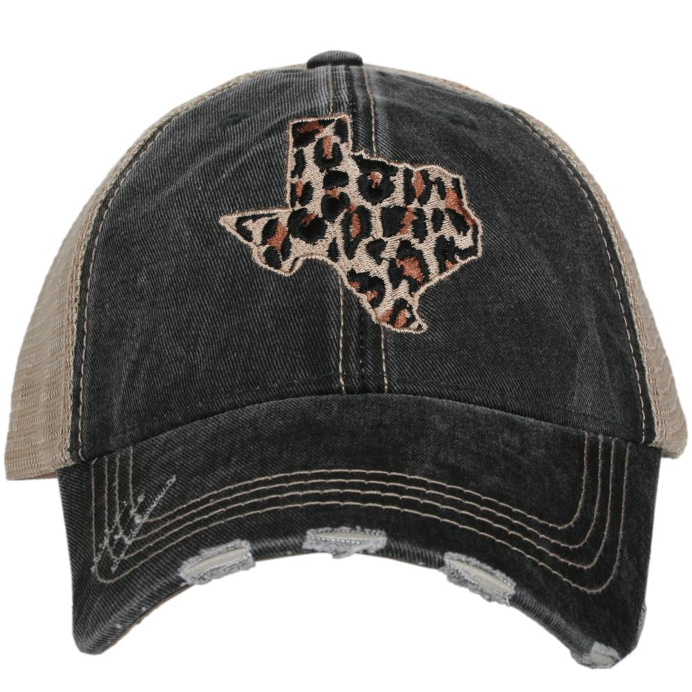 Leopard Texas CUT OUT STATE Hats