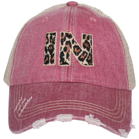 IN Indiana Leopard State Hat